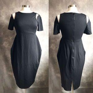 ASOS Maternity Midi Pencil Dress Cut Out Sleeves